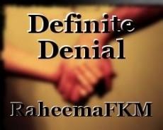 Definite Denial