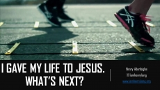 I GAVE MY LIFE TO JESUS. WHAT'S NEXT?