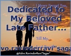 Dedicated to My Beloved Late Father...