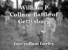 William P Collum-Battle of Gettysburg