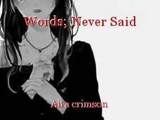 Words; Never Said