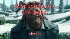 Poor beast and a newspaper