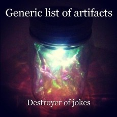 Generic list of artifacts