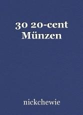 30 20-cent Münzen