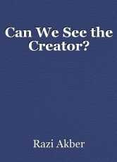 Can We See the Creator?