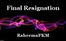 Final Resignation