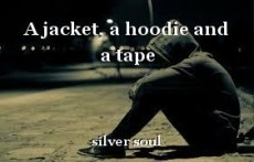 A jacket, a hoodie and a tape