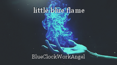 little blue flame
