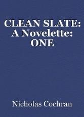 CLEAN SLATE: A Novelette: ONE