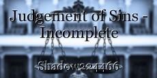 Judgement of Sins - Incomplete