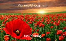 the world war RIP