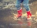 A puddle, clear and stagnant sits