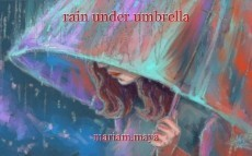 rain under umbrella