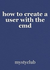 how to create a user with the cmd