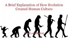 A Brief Explanation of How Evolution Created Human Culture