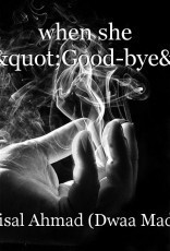 """when she said,""""Good-bye"""""""