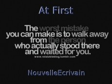 At First