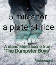 Five miles for a plate of rice