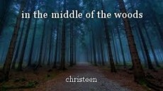in the middle of the woods