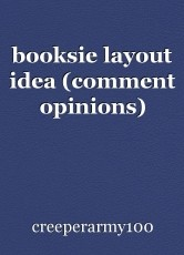 booksie layout idea (comment opinions)
