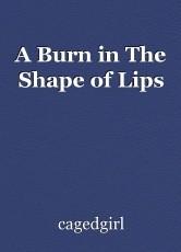 A Burn in The Shape of Lips