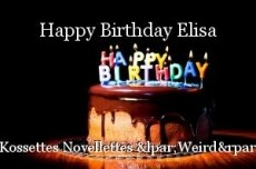 Happy Birthday Elisa