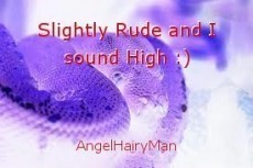 Slightly Rude and I sound High :)