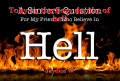 Toby in  the fiery depths of hell