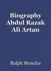 Biography Abdul Razak Ali Artan