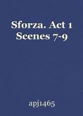Sforza. Act 1 Scenes 7-9