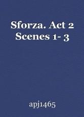 Sforza. Act 2 Scenes 1- 3