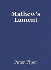 Mathew's Lament