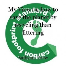 My View on how to save the planet by recycling than littering