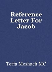 Reference Letter For Jacob