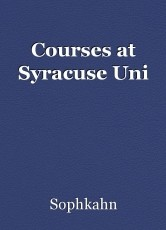 Courses at Syracuse Uni