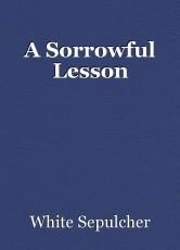 A Sorrowful Lesson
