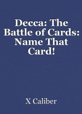 Decca: The Battle of Cards: Name That Card!