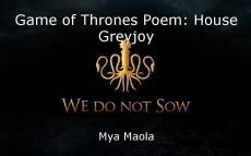 Game of Thrones Poem: House Greyjoy