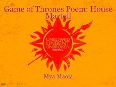 Game of Thrones Poem: House Martell
