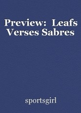 Preview:  Leafs Verses Sabres