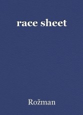 race sheet