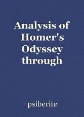 Analysis of Homer's Odyssey through Neologisms