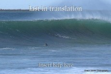 last in translation