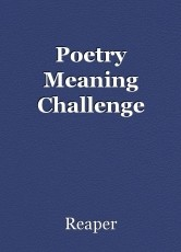 Poetry Meaning Challenge