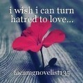 i wish i can turn hatred to love...