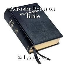 Acrostic Poem on Bible