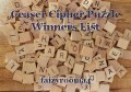 Ceaser Cipher Puzzle Winners List