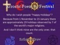 Acrostic Poem on Festival