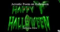 Acrostic Poem on Halloween