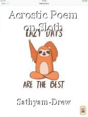 Acrostic Poem on Sloth